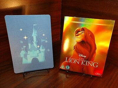 The Lion King (Blu-ray,REGION FREE)Collector Slipcover+Disney Postcard-NEW