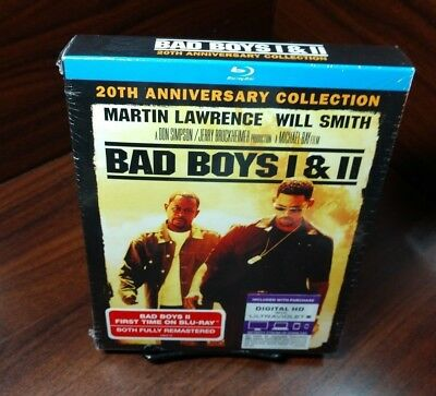 Bad Boys 1 & 2 (Blu-ray Boxset,2-Disc Set,Includes HD Digital)NEW-Free Shipping