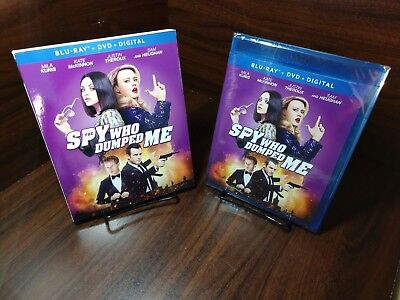 Spy who dumped me (Blu-ray+DVD+Digital)Slipcover-NEW-Free Shipping with Tracking