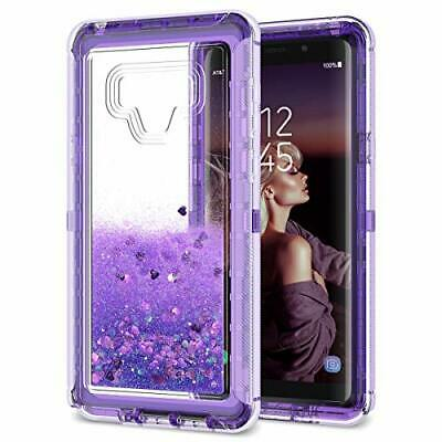 separation shoes 5bd6f 7e23a DEXNOR COMPATIBLE WITH Samsung Galaxy Note 9 Case Hard Clear Glitter 3D  Flowing