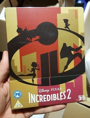 The Incredibles 2 3D Limited Edition Steelbook (Blu-ray 2D/3D) BRAND NEW!!
