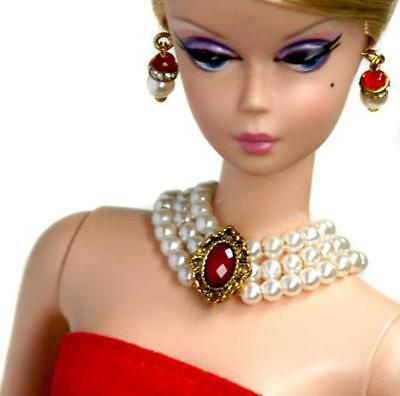 "Handmade Doll jewelry necklace earrings For Barbie Doll and 11.5/"" dolls D125"