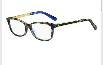 b94d75b7e1 Kate Spade Angelisa S5A Eyeglasses Havana Blue Gold Frame 135mm temple