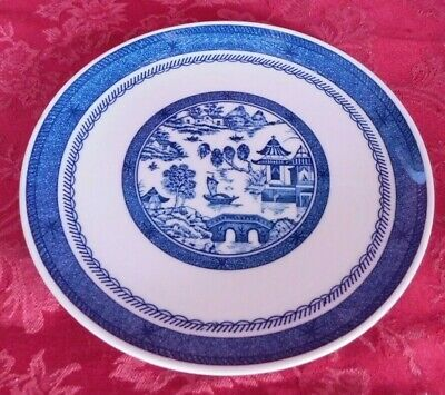"Syracuse China Blue & White Old Cathay Salad Plate 8 1/8"" Wide"