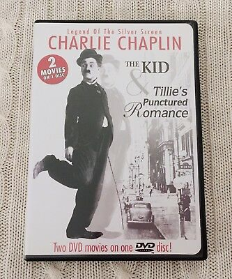 Charlie Chaplin The Kid and Tillie's Punctured Romance Silent Film DVD