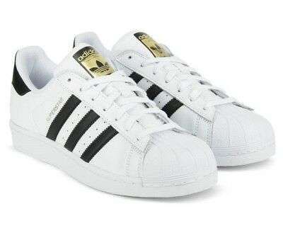 Adidas Mens Superstar FOUNDATION Trainers Womens Casual Shoes White Black