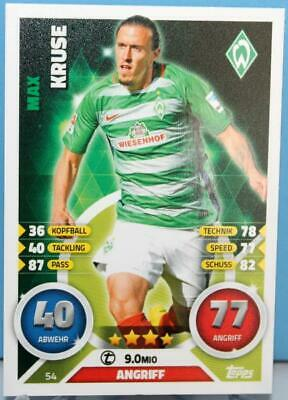 Topps Match Attax Bundesliga 2016-2017 Card No. 54 Max Kruse