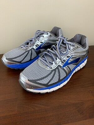 Brooks Beast 16 Mens Running Shoes Sneakers Gray Blue Size 8 Extra Wide 4E 74c187618f7