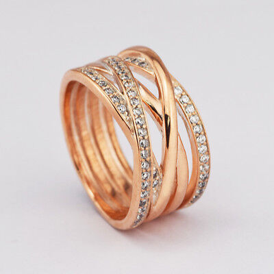 eea283813 Genuine S925 Rose Gold Entwine Entwined Entwining Ring Size Limited Qty!  Sale
