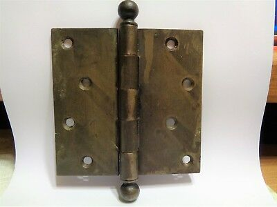 "1 Vintage 4 1/2""X 4 1/2"" Stanley Sweetheart Heavy Duty Door Hinge #03"