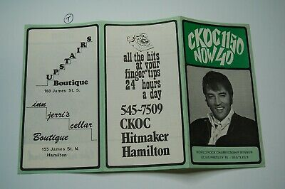 CKOC Music Chart Elvis! ( like Chum Chart)  Nov 18 1970  Excellent Condition!