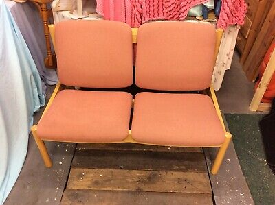 ercol early 1980s two seater and chair.773.