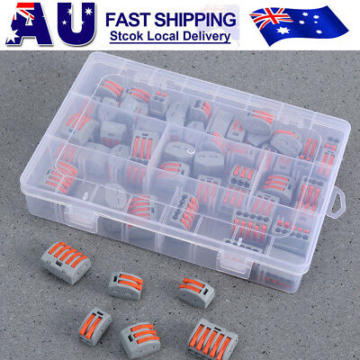 60PCS PCT-212 5 Way Electric Cable Wire Connector Reusable Lever Terminal Block