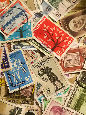 ✸50 STAMPS-Turkey worldwide Stamp Collection Old Hoard Box Unsearched Worldwide✸