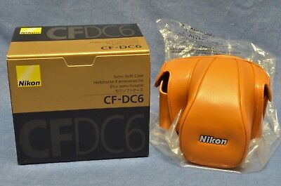 BRAND NEW in BOX BROWN AND BLACK LEATHER CF-DC6 CASE f/ Nikon DF