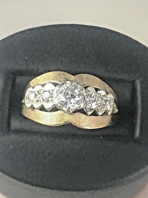 Vintage 14kt Yellow Gold Ring with .75cttw Miner's Cut Diamonds