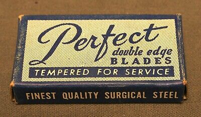 "Rare Vintage 1950's ""Perfect"" Double Edge Safety Razor Blades, 5-Pack, Unused"