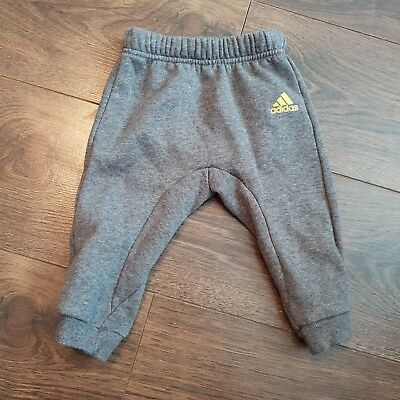 Baby Boys Adidas Grey Tracksuit Bottoms 3-6 Months jersey