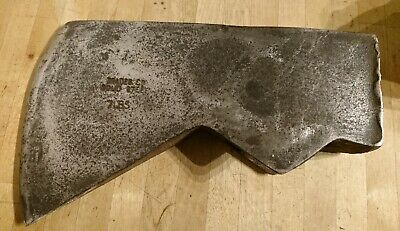 Large Antique / Vintage Brades Co 7LBS Heavy Solid Steel Axe Head