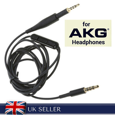 Replacement Audio Cable for AKG K450 K430 K480 K451 K452 Q460 headphones + MIC