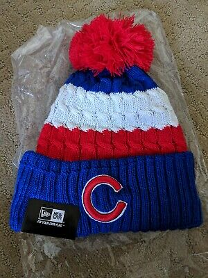 82ad146ffce 2018 CHICAGO CUBS New Era MLB Knit Hat Red White Blue Adult Beanie ...