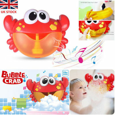 Crab Bubble Machine 12 Songs Musical Bubble Maker Baby Children Bath Shower Toy