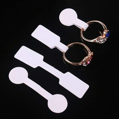 Jewellery Ring Necklace Labels Price Tags Self Adhesive Dumbell Round White