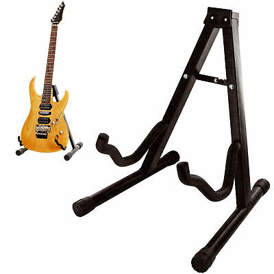 Folding Guitar Stand Foldable A-Frame Music Floor Electric Acoustic Bass New