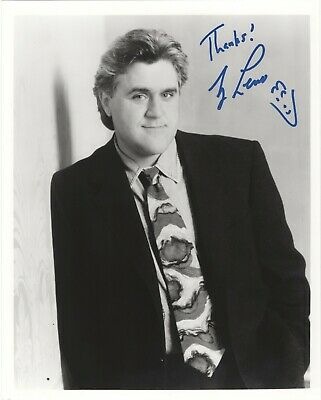 Jay Leno AUTOGRAPHED PHOTO. Great comedian and Tonight Show host for many years.