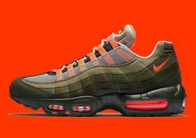buy online 7f5d5 5c9d0 Nike Air Max 95 Og Neutral Olive Orange At2865-200 Größe 7 Herren   8.5