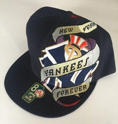 23bab7f6b6f96 MLB NY NEW York Yankees American Needle Cooperstown Wool Fitted Hat ...