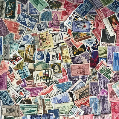 Quality Vintage Used Lot 100 US Stamps Off Paper NO Duplicates FREE Shipping