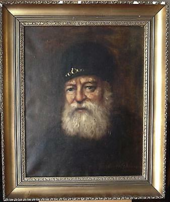 Early 20thC Portrait Old Sea Dog Indistinctly Fr. Schurmann Oil Painting c1920s