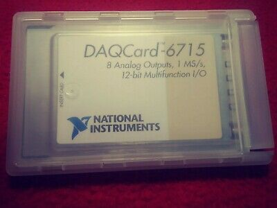NI DAQCard-6715 PCMCIA, 8ch ±10V Analog Out 1Ms/s, National Instruments *Tested*