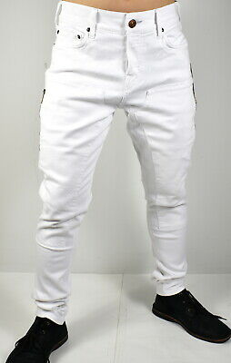 7b1a6d4e38f True Religion $229 Men's Logan Workwear Relaxed Taper Optic White Jeans -  100342