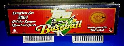 2004 Topps Baseball Cards Complete Set Factory Sealed 732 Cards