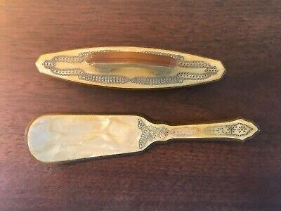 Antique Art Deco Vanity Accessories Dressing Table Implements Shoe Nail Buffer