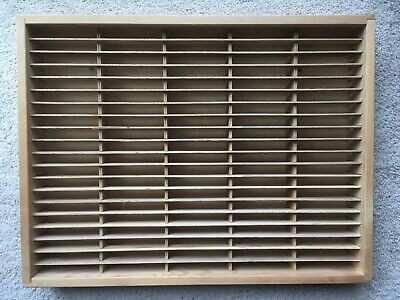NAPA VALLEY 100 CASSETTE WOODEN STORAGE UNIT tape case rack holder wall shelf