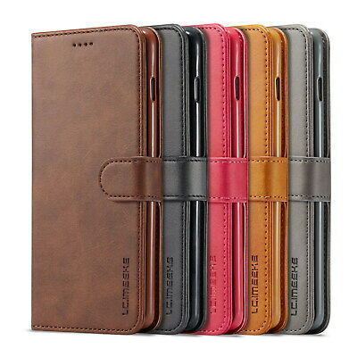 Luxury Magnetic Flip Cover Wallet Leather Case For iPhone 7/8/x Samsung S10 P30