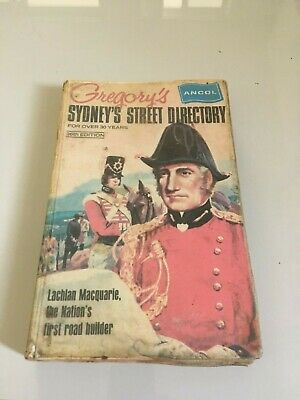 Vintage 1971 Gregory's Sydney Street Directory 36th Edition