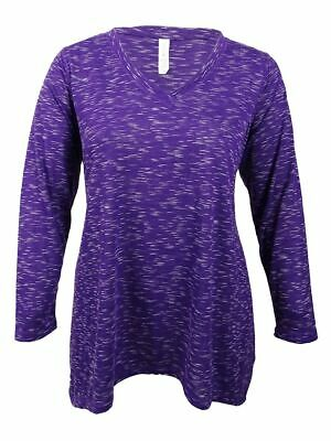 c608df58ee IDEOLOGY WOMEN S PLUS Size Space-Dyed Top (1X
