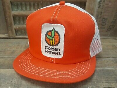 ae3ca5dabca Vintage GOLDEN HARVEST Mesh Snapback Trucker Hat Cap Patch K BRAND Made In  USA