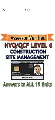 NVQ Level 6 In Construction Management. (Answers)