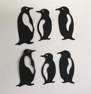 6 Penguin Paper Die Cuts Card Topper Embellishments scrapbook handmade Cards