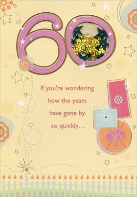 If Youre Wondering Window Star Sequins Age 60 60th Birthday Card