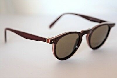 9403ad8998d2 CELINE CL40030 RED Frame Gray Lens Square Sunglasses %100 Auth ...