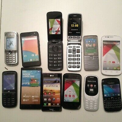 Lot 12 TELEPHONES FACTICES - NOKIA LUMNIA SAMSUNG ALCATEL LG L7 BLACKBERRY DORO