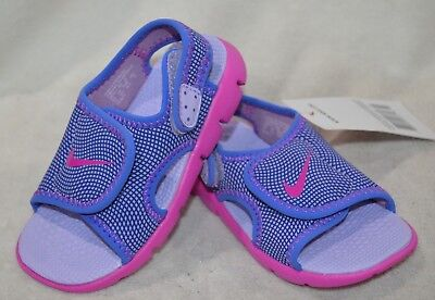 Black//Pink Toddler Girl/'s Sandals TD Size 7//9//10C NWB Nike Sunray Adjust 5