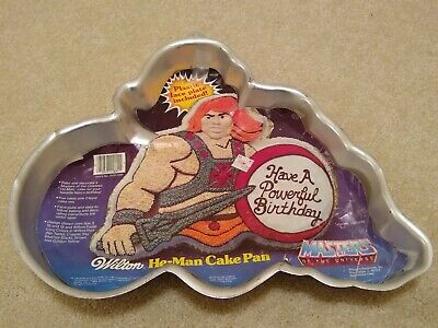 Wilton Cake Pan 1983 HE MAN MOTU Masters Of The Universe 2105 3184
