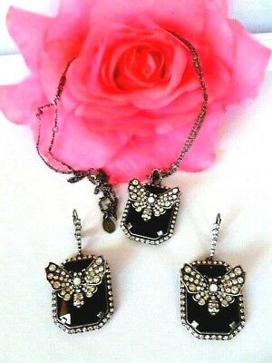 556e96f49 Superb Signed ALEXANDER McQUEEN Crystal Butterfly Pendant Necklace &  Earring SET